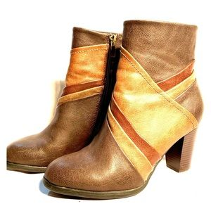 ❤️HOST PICK❤️ BROWN ANKLE BOOTS by PATRIZIA Size 8